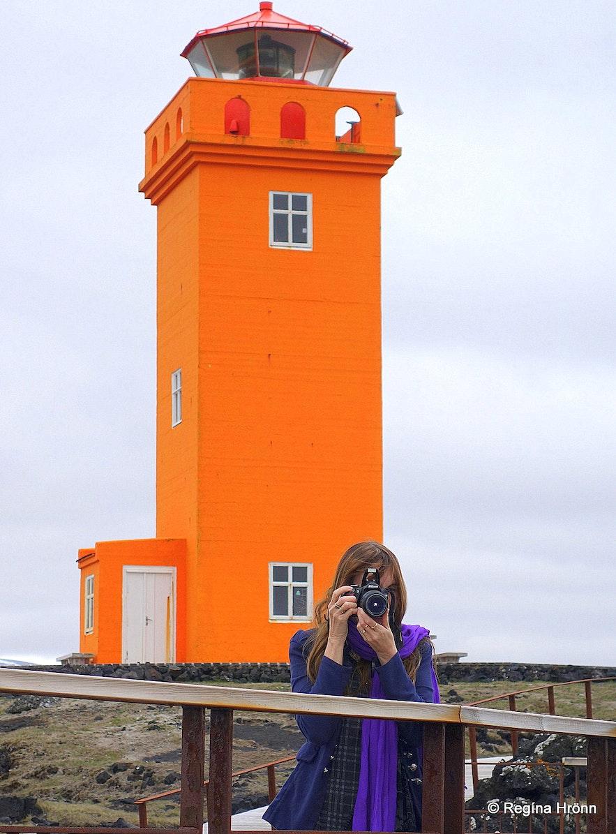 Regína by Skálasnagaviti lighthouse Snæfellsnes
