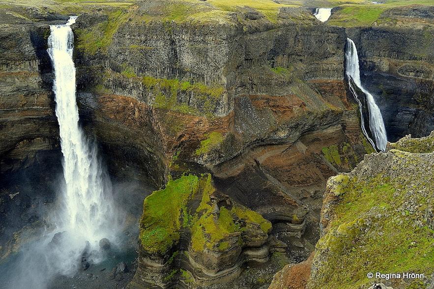 Háifoss &Granni waterfalls