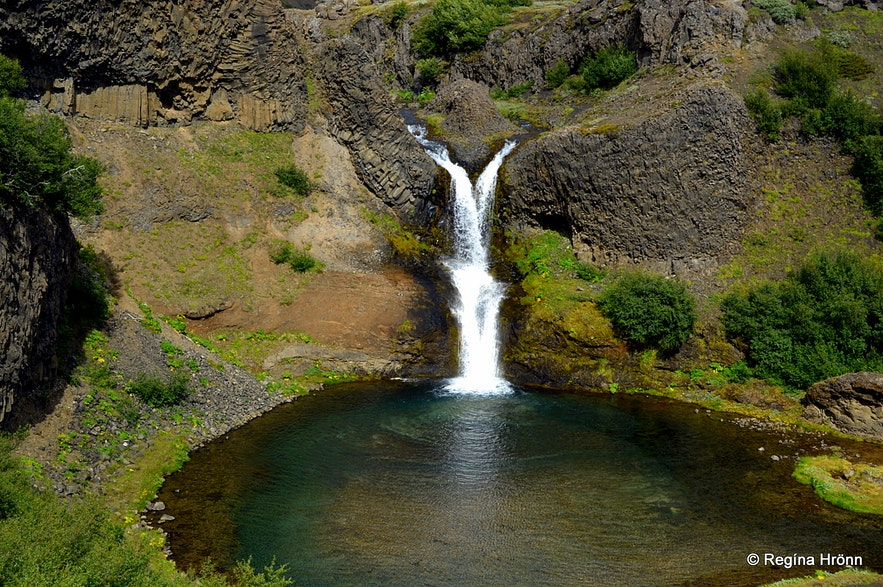 Gjárfoss waterfall in Gjáin