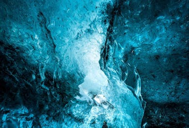 Jaskinie lodowe pod lodowcem Vatnajokull   Wyjazd z Jokulsarlon