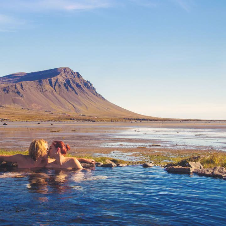 There are many amazing and tranquil hot springs around the Westfjords, each one as romantic as the next.