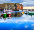 The beautiful harbour at Stykkishólnur is where you wil arrive on the ferry Baldur from the Westfjords.