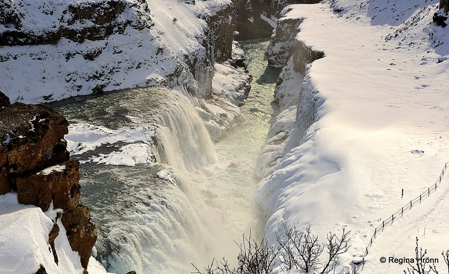Gullfoss in winter time
