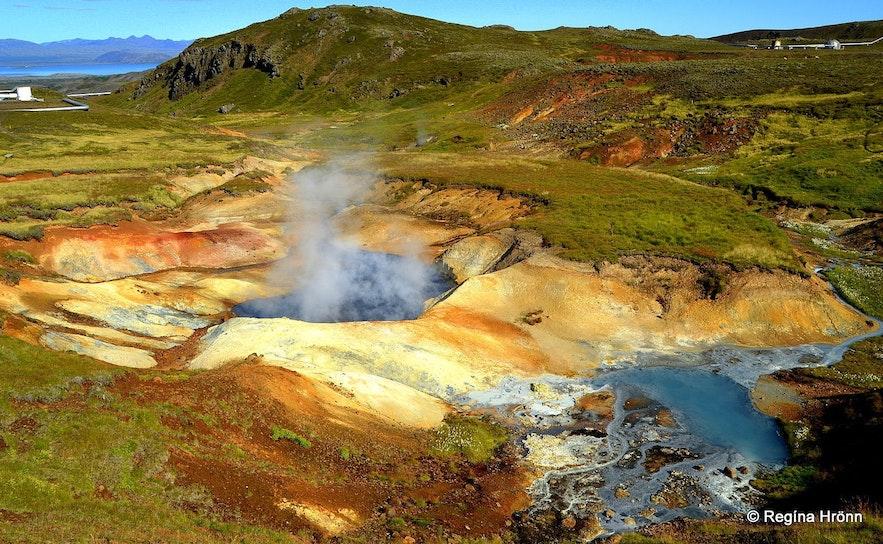 Malowniczy obszar geotermalny Hengill.