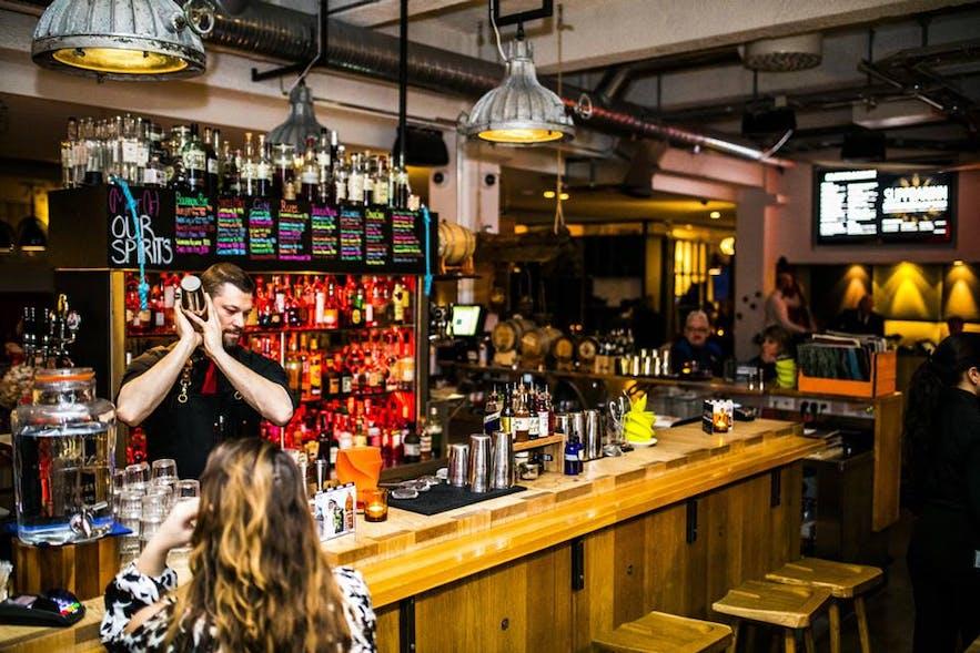 The bartenders at Icelandair hotel restaurant Sliiparinn often win awards.