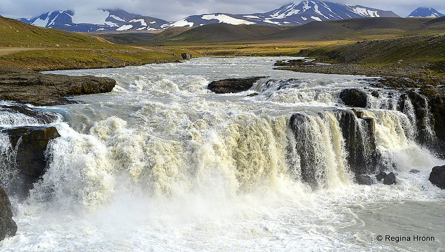 Gýgjarfoss waterfall in Jökulfall river