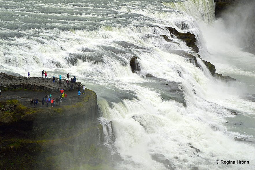 Gullfoss waterfall is part of the Golden Circle in southwest Iceland.