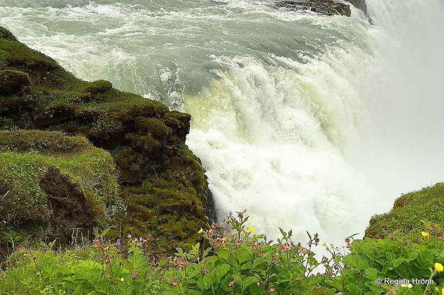 The lower cascade of Gullfoss waterfall