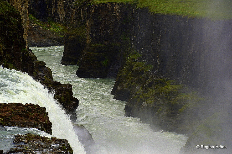 Gullfoss waterfall and Hvítárgljúfur canyon