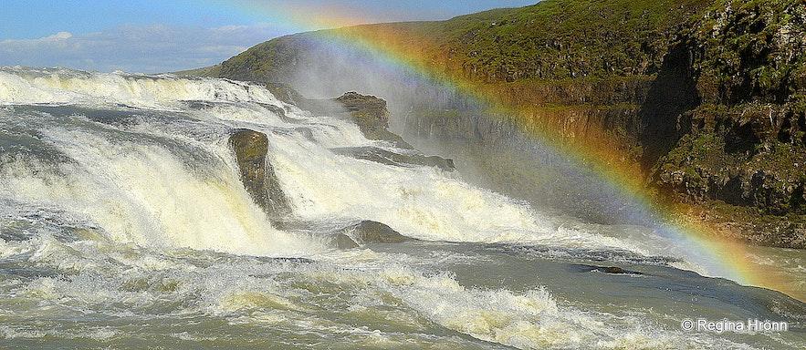 The upper cascade of Gullfoss waterfall