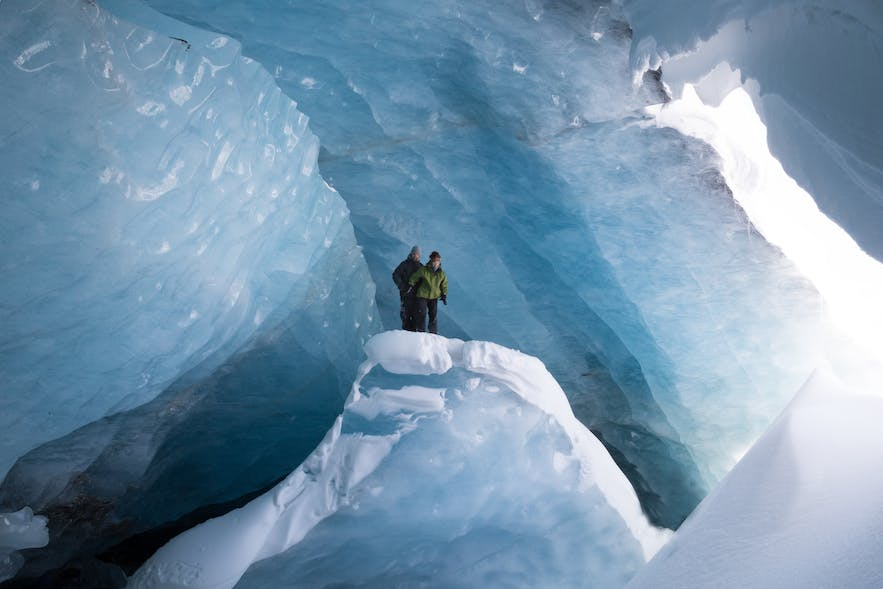 The size of Iceland's ice caves will defy the imagination!