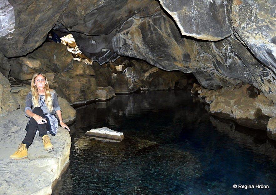 Grjótagjá geothermal cave Mývatn South-Iceland