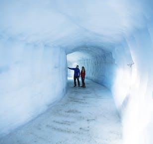 Túnel de hielo y aventura en moto de nieve | Glaciar Langjökull y oeste de Islandia
