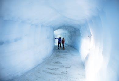 Ice Tunnel & Snowmobiling Adventure | Langjokull Glacier & West Iceland