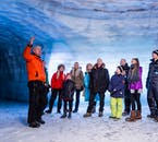 Follow your expert guide into the depths of the ice cave tunnels and marvel at the unique and alien scenery.