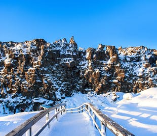 Tour guiado de 4 días en invierno en grupo pequeño | Círculo Dorado, Costa Sur y Fiordos del Este