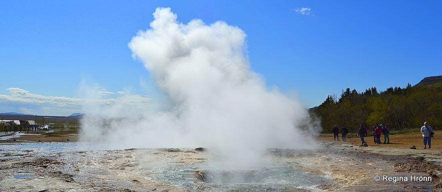 Strokkur - steam after an eruption