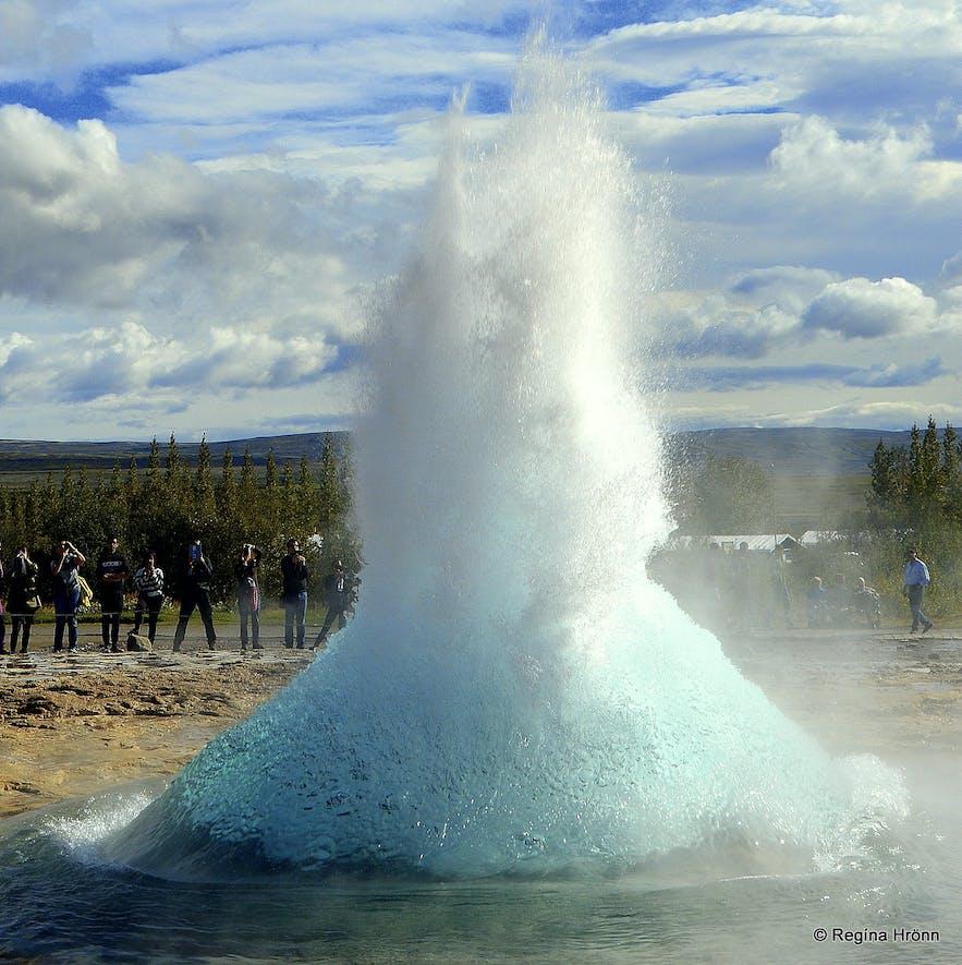 Strokkur erupting - the bubble bursting