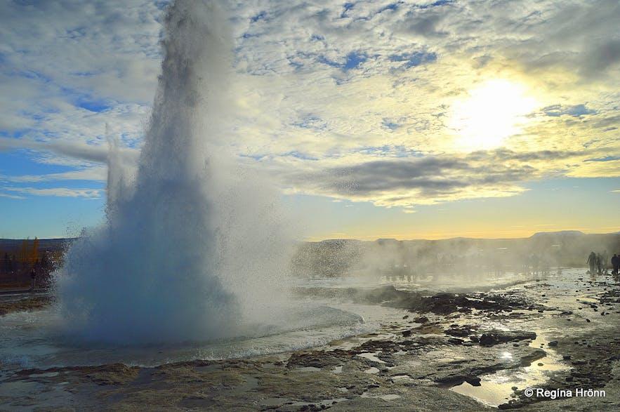 Strokkur erupting