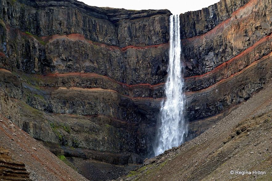 Hengifoss waterfall in East-Iceland