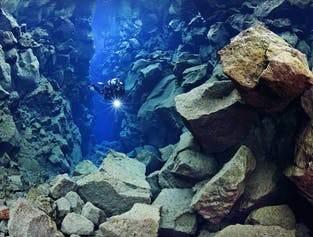 Diving in the Silfra fissure is a once in a lifetime opportunity.