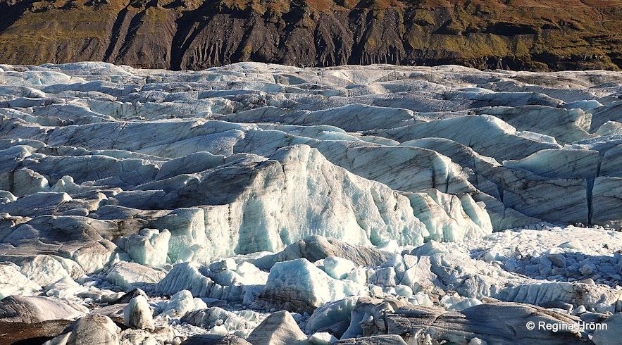 Svínafellsjökull glacier South-Iceland