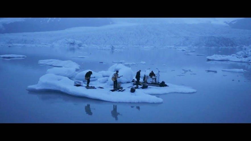 冰岛乐队Kaleo在Fjallsarlon冰河湖拍摄的MV