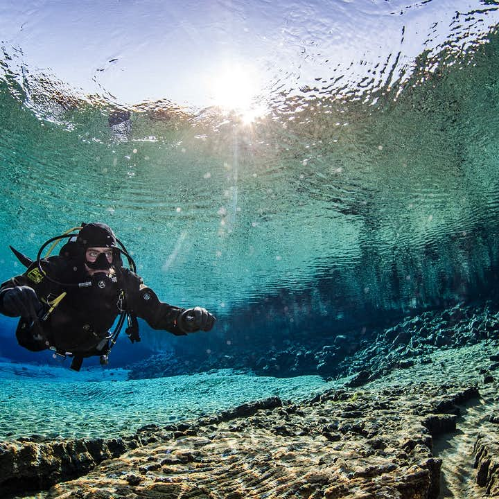 Diving at Silfra means diving in some of the clearest water in the world.
