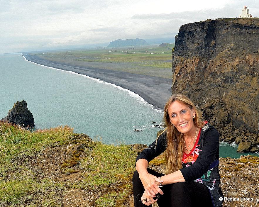 Regína at Dyrhólaey South-Iceland