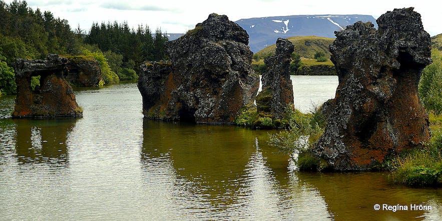 Kálfaströnd lava pillars Mývatn North-Iceland