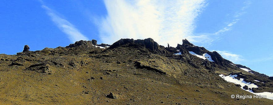 Kerlingarskarð Pass in Snæfellsnes in West-Iceland
