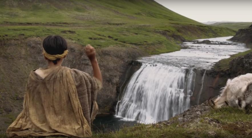 权力的游戏弥林外景-冰岛Thorufoss瀑布
