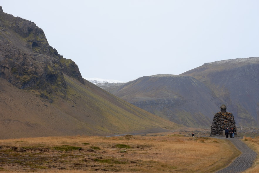 아이슬란드 서부 해안가 마을 아르나스타피