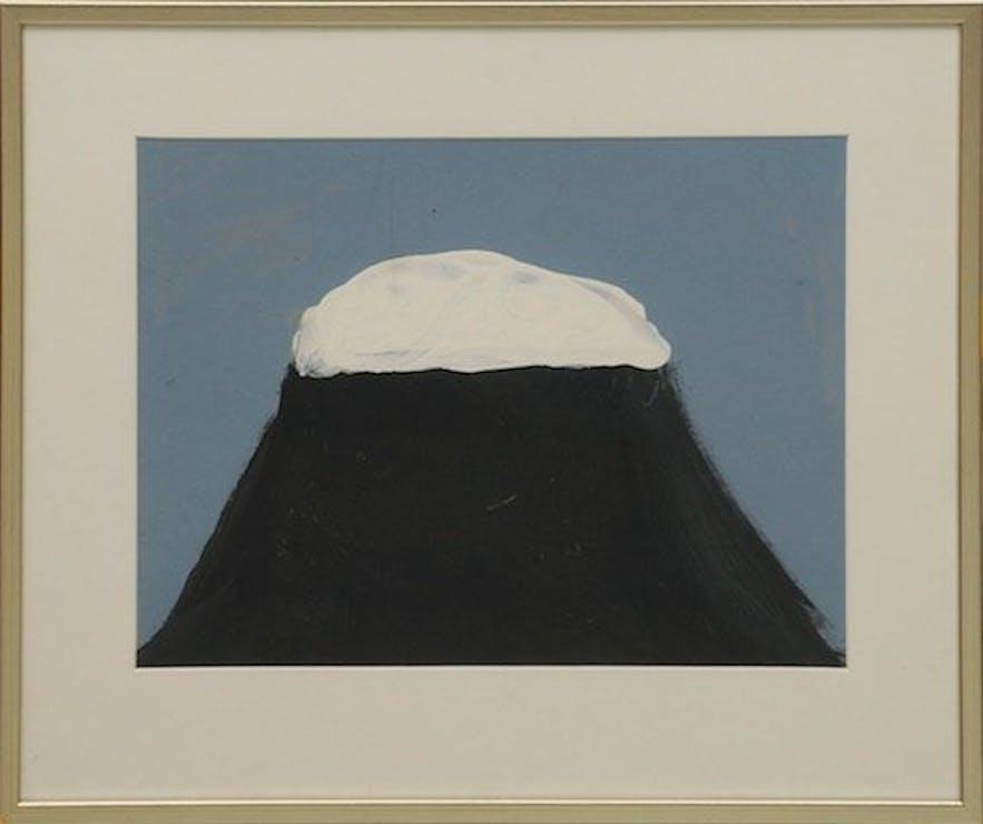 冰岛著名画家笔下的海尔聚布雷兹山