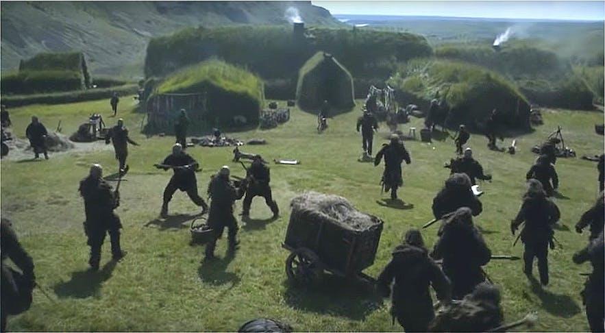 权力的游戏第四季在冰岛拍摄的维京人村庄