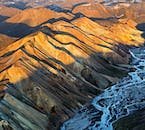 The Icelandic Highlands are home to mountainous landscapes and wild meandering rivers.