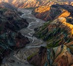 The Icelandic Highlands are famous for their multi-coloured mountains and wild meandering rivers.
