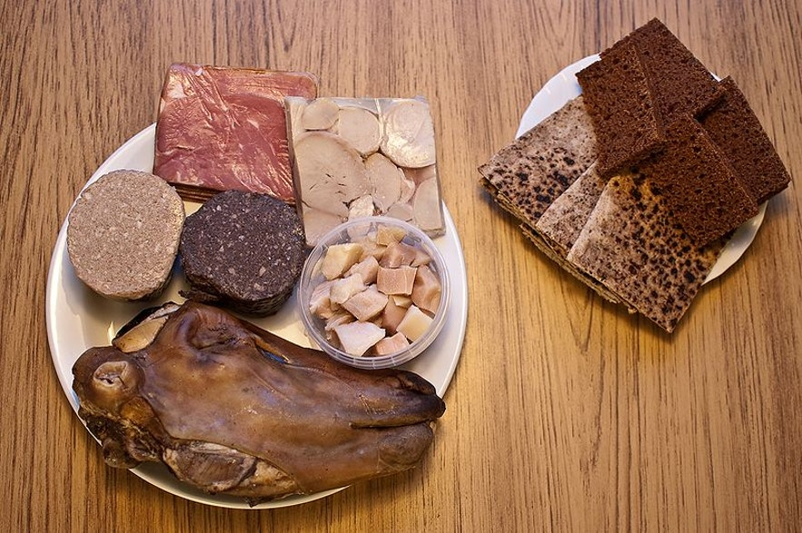 Thorramatur, traditional food in iceland.