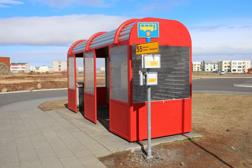 A bus shelter