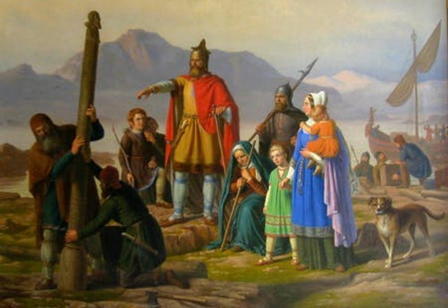 Ingólfur Arnarson is widely considered Iceland's first settler.