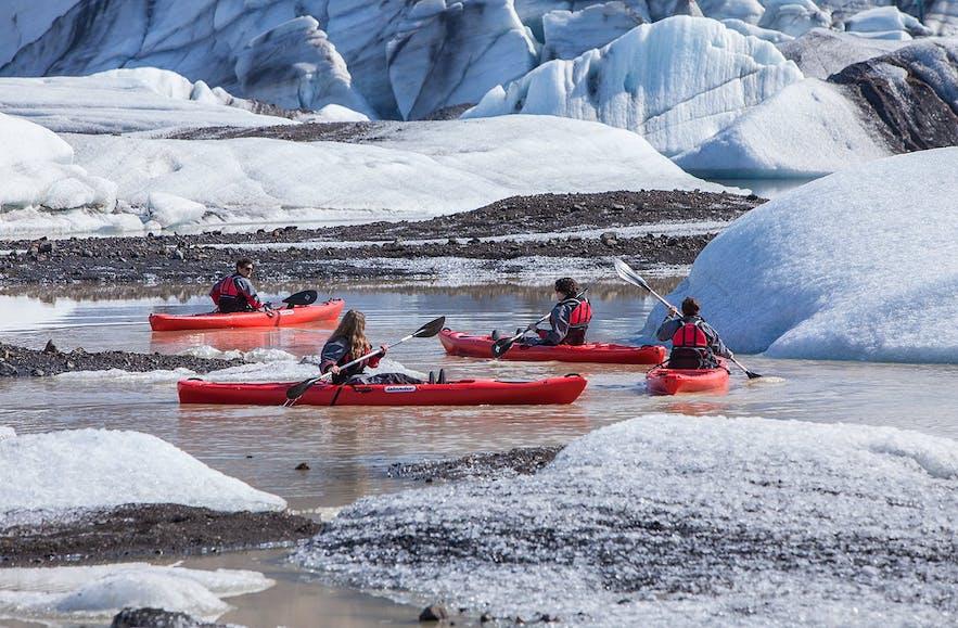 索尔黑马冰川冰河湖皮划艇旅行团