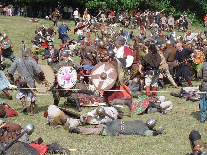 Viking battle, photo by Tone from Wikimedia Commons