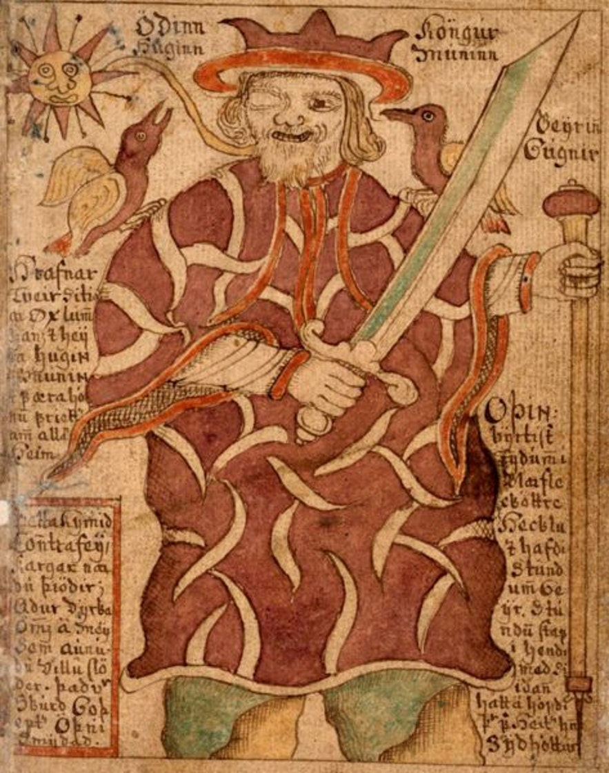 the one eyed god Odinn