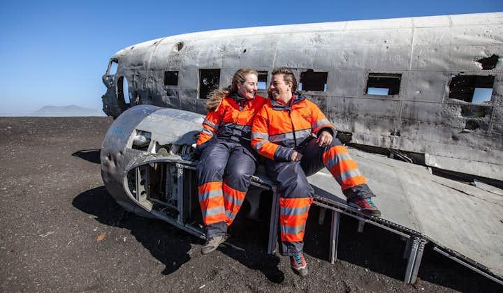 Mache auf dieser ATV-Tour coole Selfies am DC-Flugzeugwrack in Island.