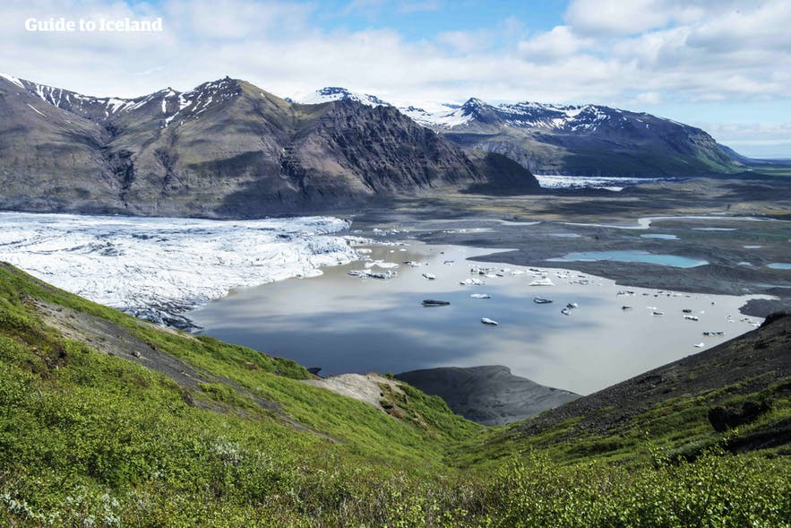 Iceland's South Coast is dotted with many spectacular glaciers.