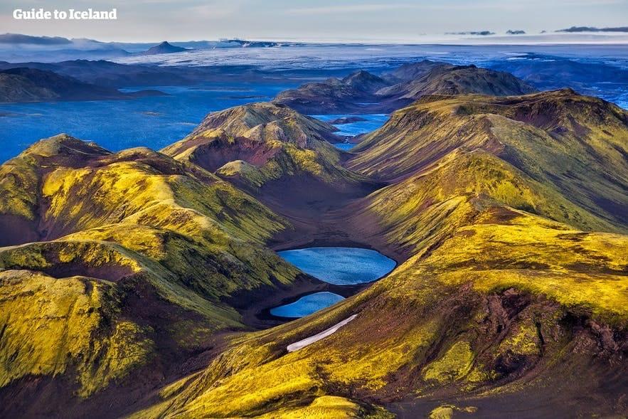 Surowy islandzki interior, widok z lotu ptaka.