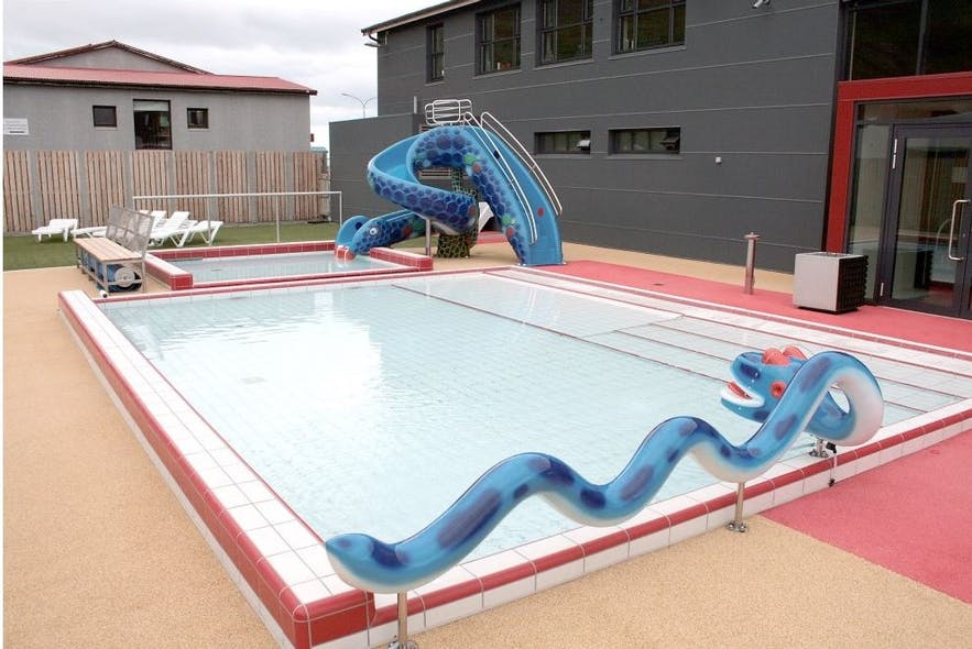 A pool for little ones to play in at Olafsvik pool