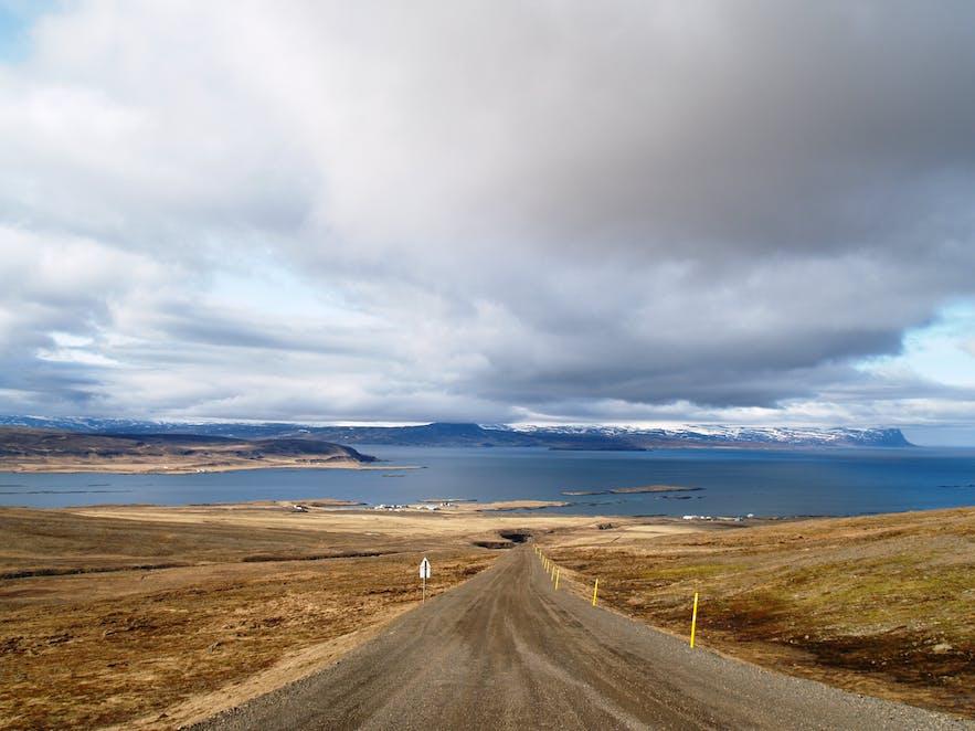 冰岛西部峡湾的土路