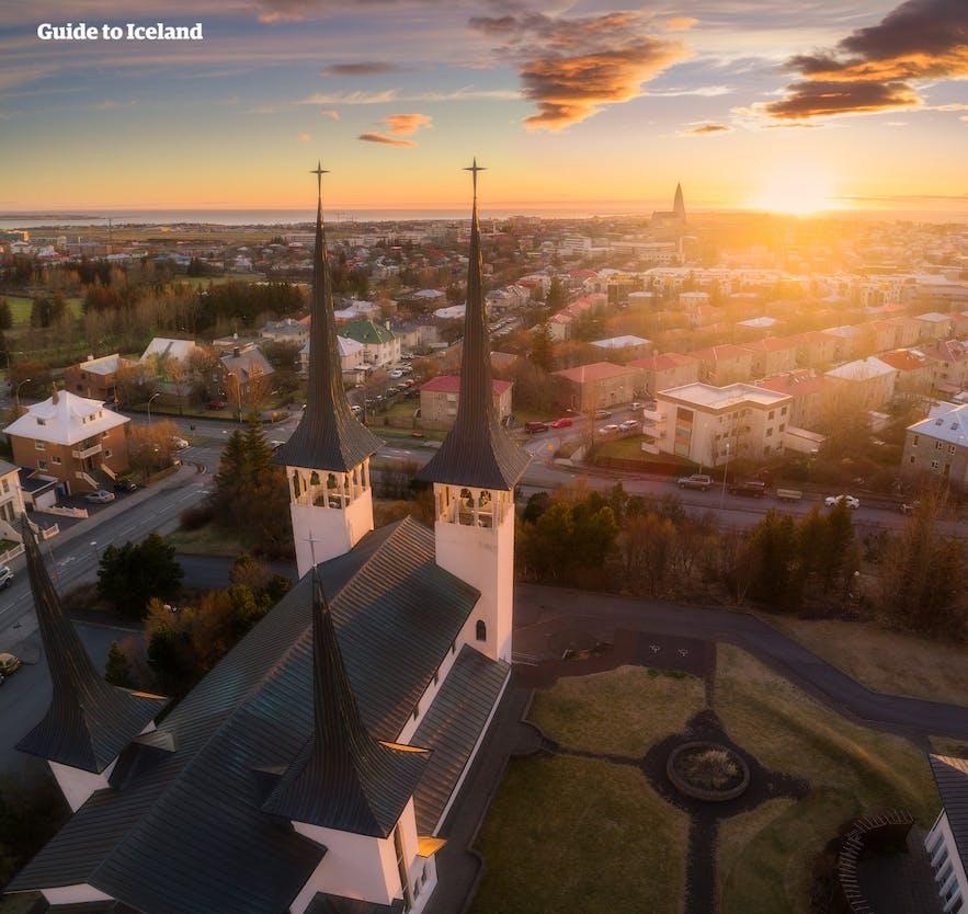 冰岛首都雷克雅未克的Háteigskirkja教堂