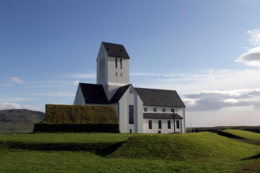冰岛黄金圈景区的斯考尔霍特大教堂